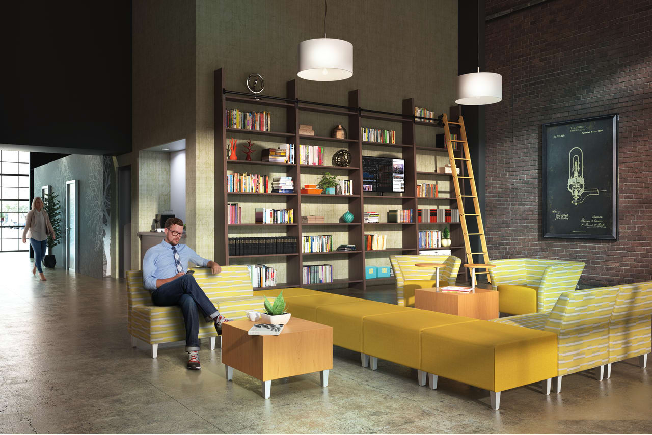 hotel library area